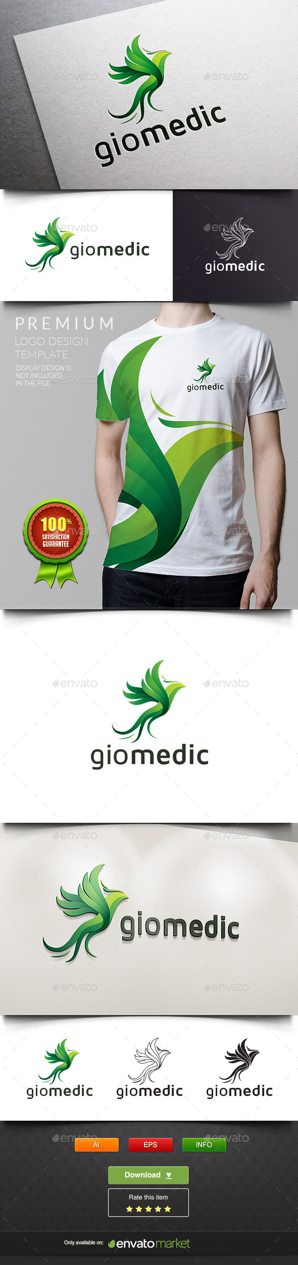 GraphicRiver Giomedic Green Parrot 11937848