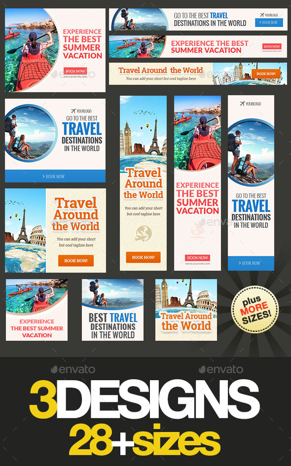 GraphicRiver Travel Banner Bundle 11937862