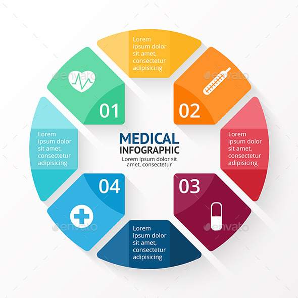 GraphicRiver Medical circle plus sign infographic 11932710