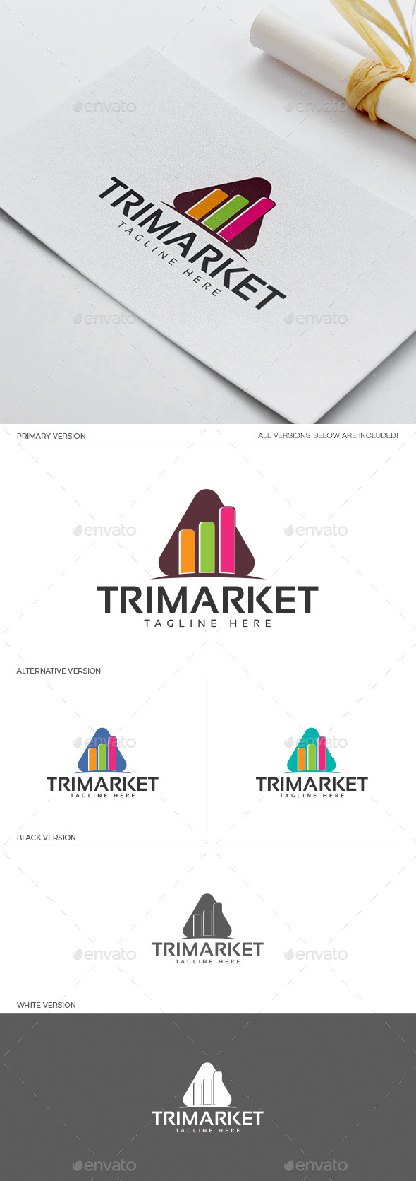 GraphicRiver Trimarket Logo 11937946