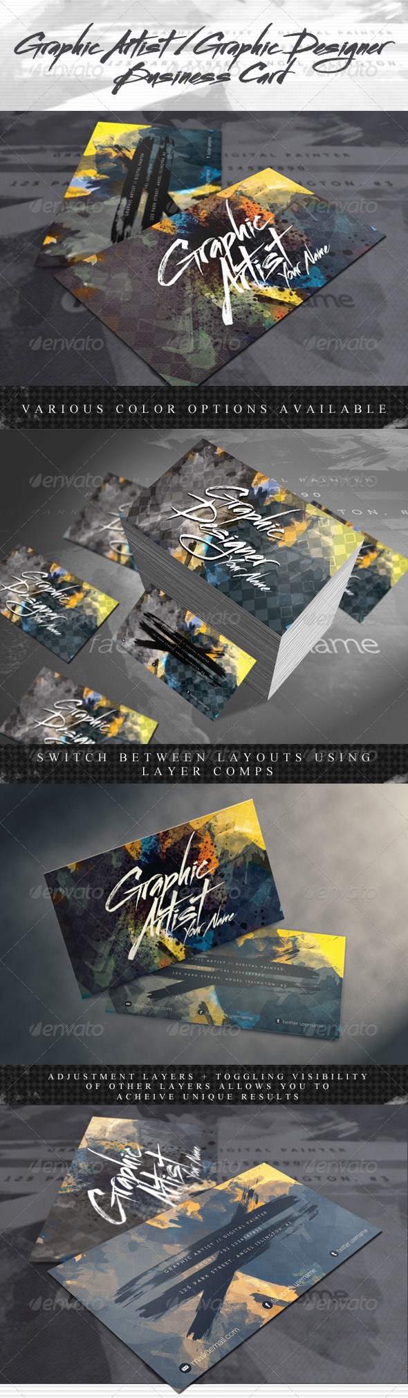 GraphicRiver Artistic Business Card for Artists & Designers 1197973