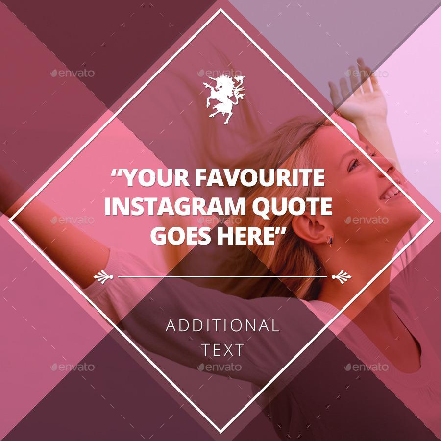 Multipurpose Instagram Quotes Banner Templates by Belegija ...