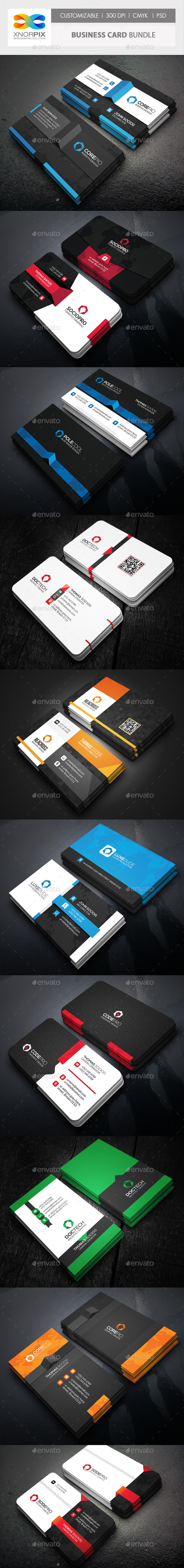 GraphicRiver Business Card Bundle 10 in 1 11938145