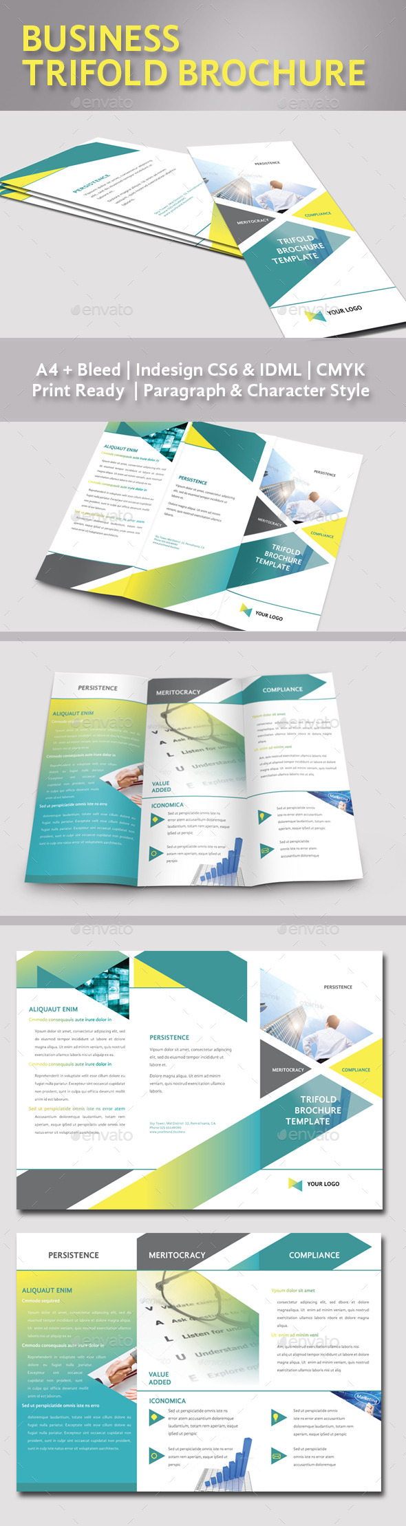 GraphicRiver Trifold Brochure Template 11938350