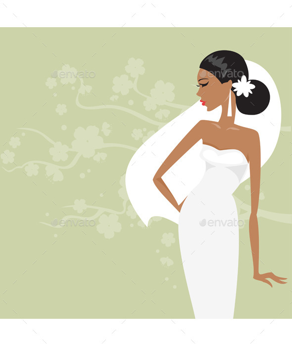 GraphicRiver Bride in a White Dress 11938354