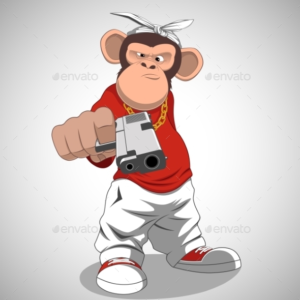 GraphicRiver Monkey with a Gun 11938558