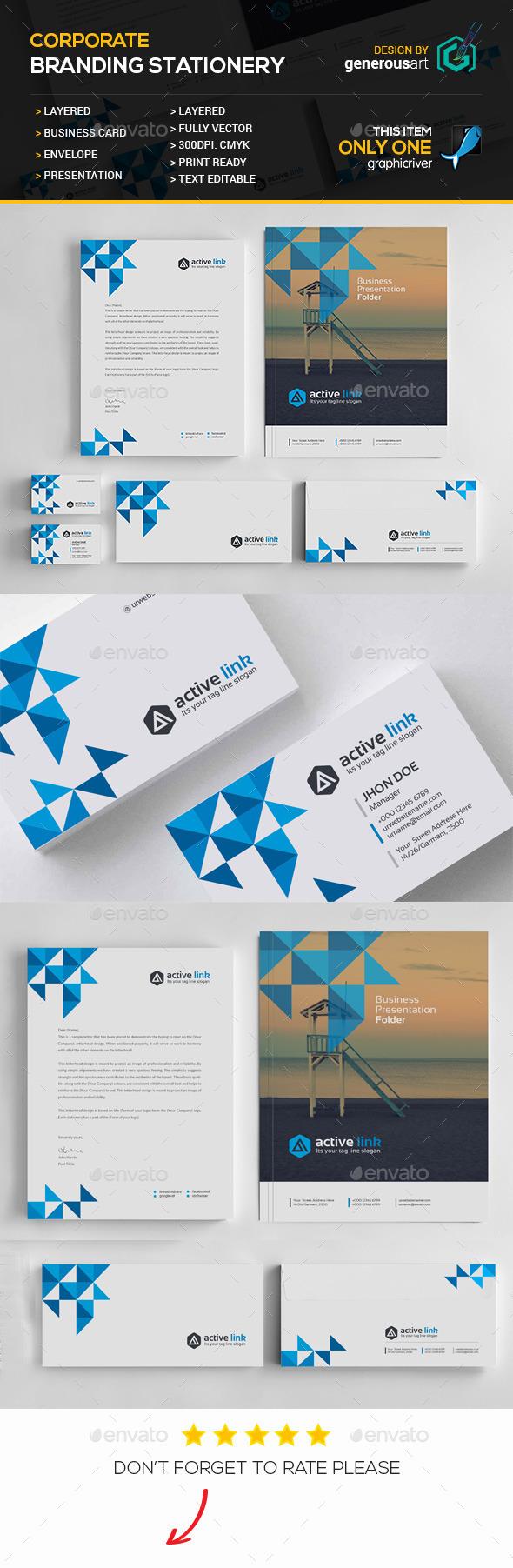 GraphicRiver Branding Stationery 11938564