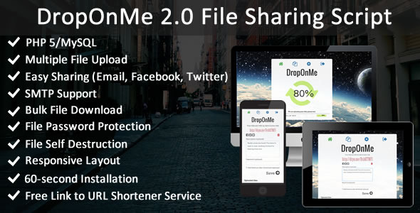 DropOnMe - File Sharing PHP Script
