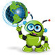 Robot and Globe - GraphicRiver Item for Sale