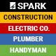 Spark - Construction / Electrician / Plumber / Handyman + Builder Access - ThemeForest Item for Sale