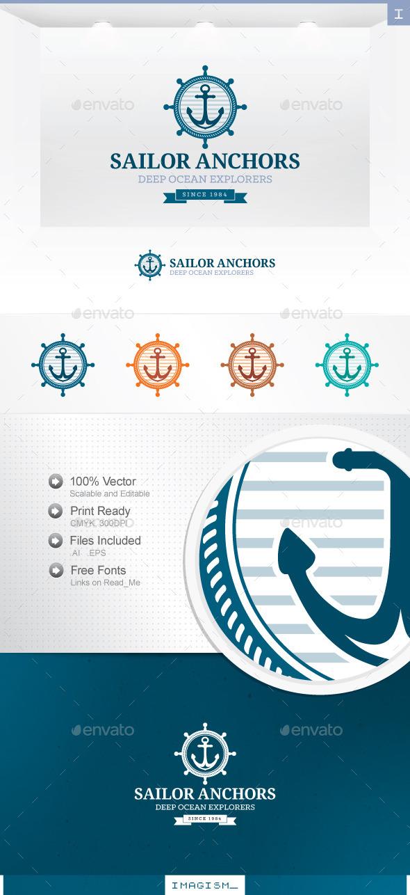 GraphicRiver Sailor Anchor Logo 11939320