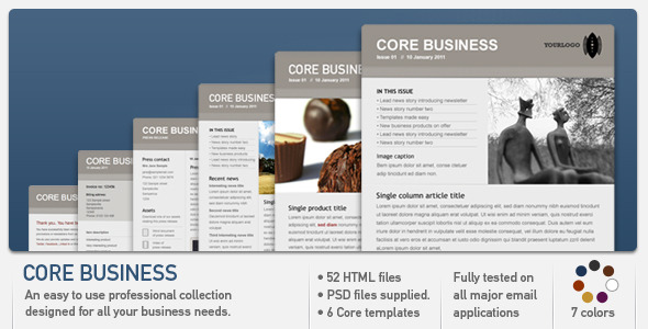 Core Business - Newsletters Email Templates