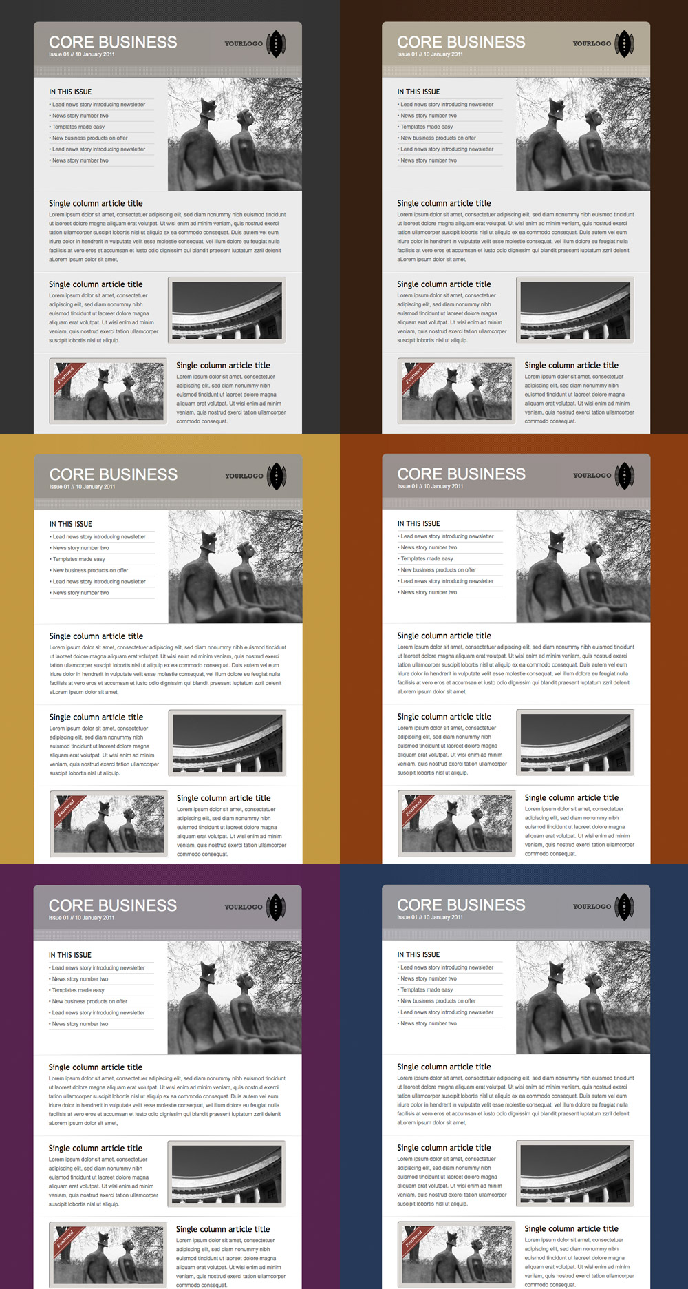 Core Business - Newsletter in 6 colours