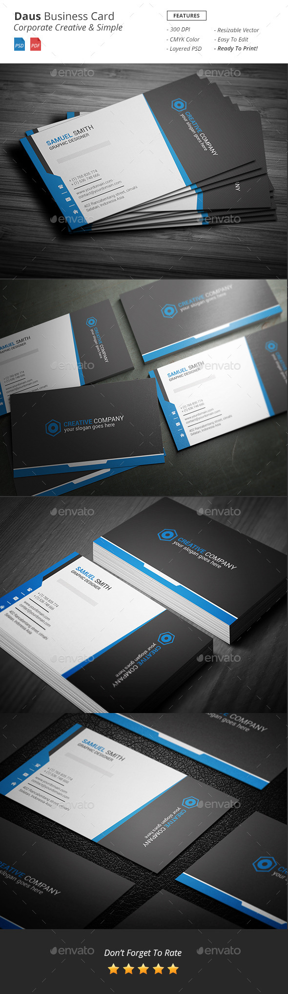 GraphicRiver Daus Corporate Business Card 11939476