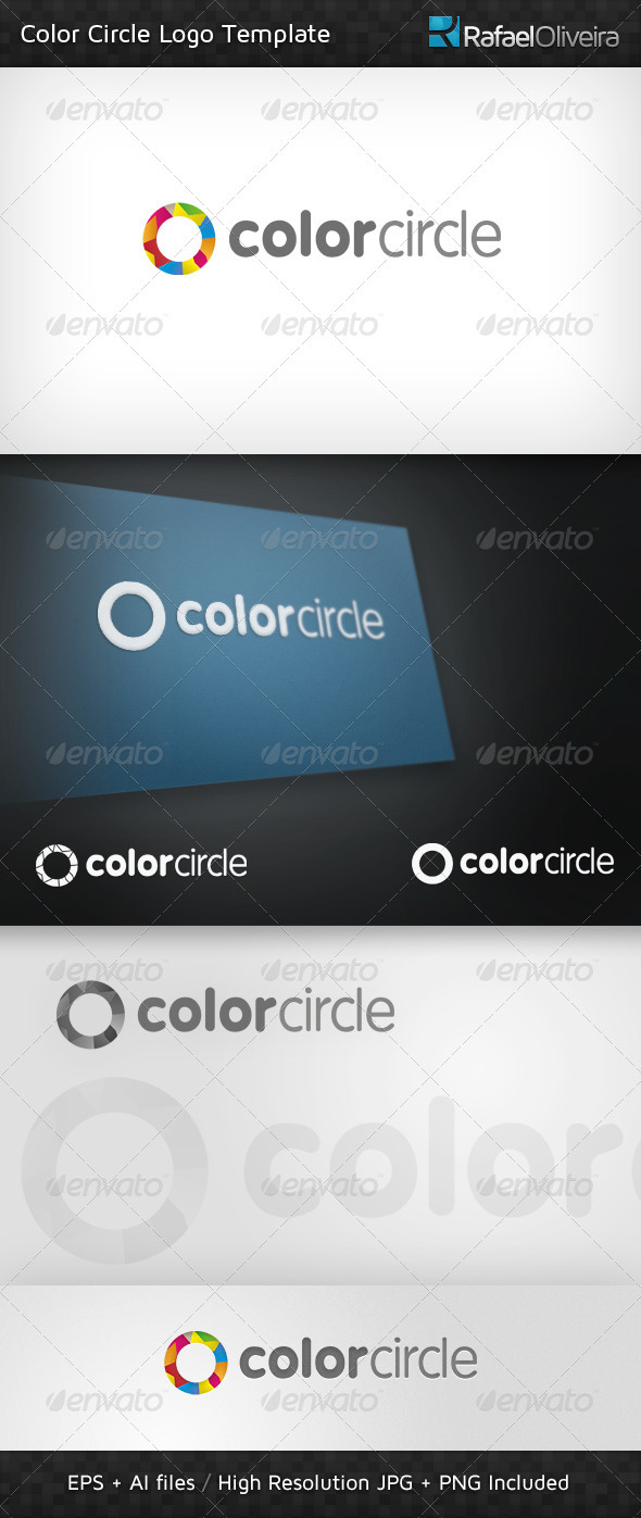 Color Circle Logo Template - Abstract Logo Templates