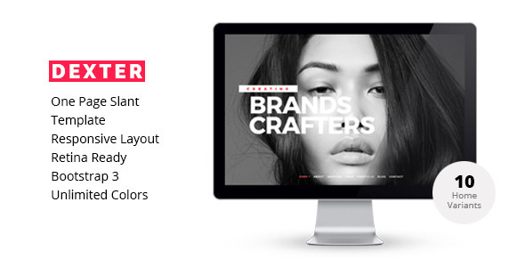 DEXTER-Creative Multipurpose One Page Template