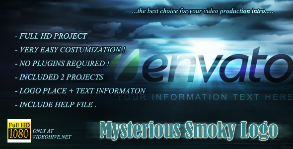 After Effects Project - VideoHive Mysterious Smoky Logo 146179