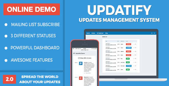CodeCanyon Updatify Updates Management System 11940561