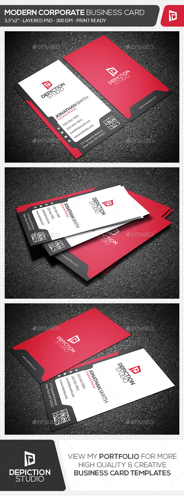 GraphicRiver Modern Corporate Business Card 11940630