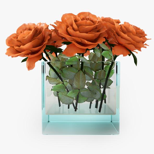 3DOcean Orange Roses 11940886