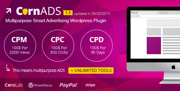 CornADS 1.5.2 – Multipurpose Smart Advertising WordPress Plugin