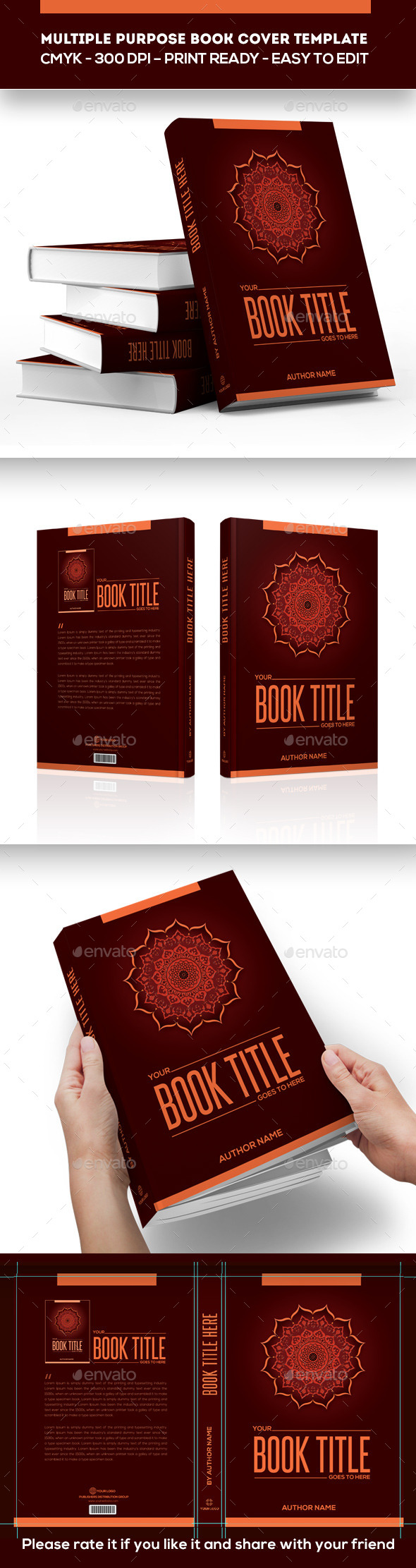 GraphicRiver Multiple Purpose Book Cover Template 11940931