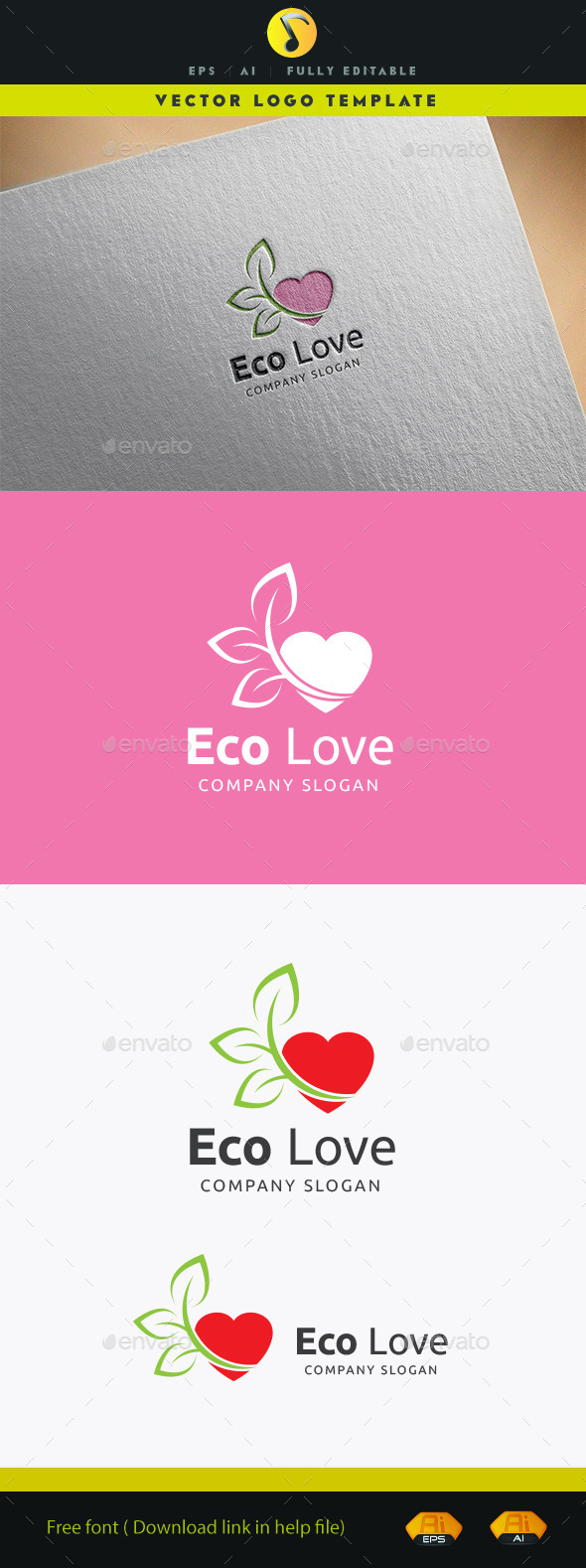 GraphicRiver Eco Love Logo 11940944