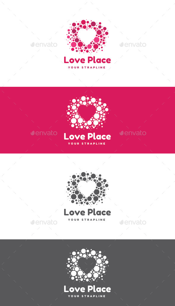 GraphicRiver Love Place Logo 11940959