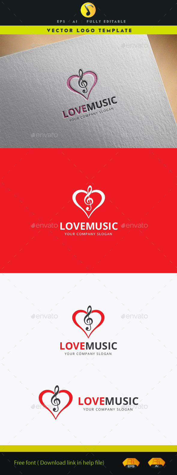 GraphicRiver Love Music 11941027