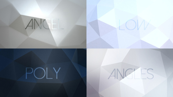 Angel Angles Low Poly Backgrounds 6 Pack