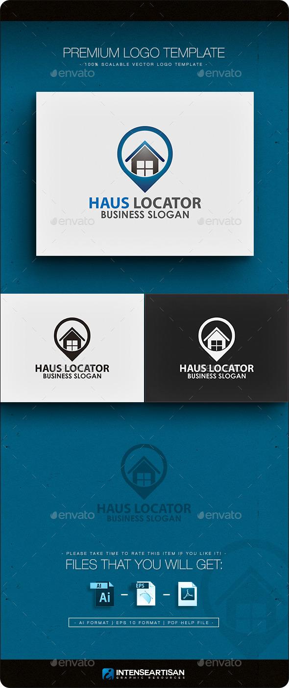 Haus Locator Logo Template - Buildings Logo Templates