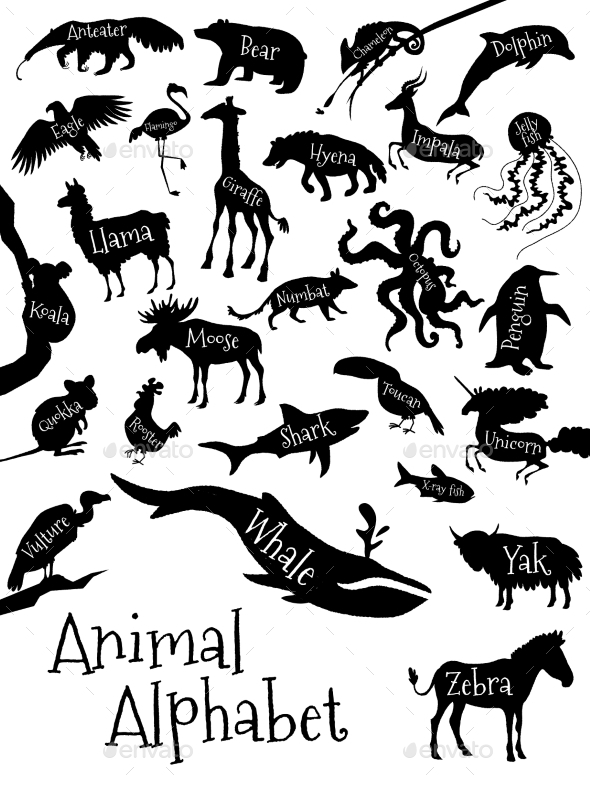 GraphicRiver Animal Alphabet Poster for Children 11941280