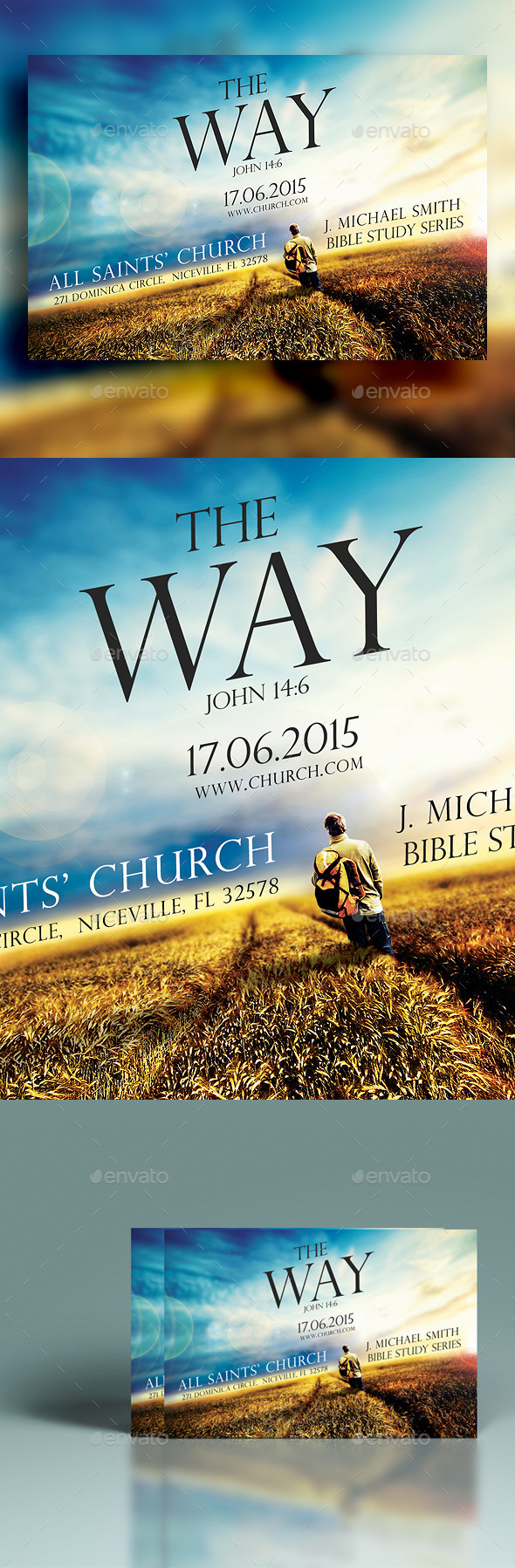 GraphicRiver The Way Church Flyer 11941459