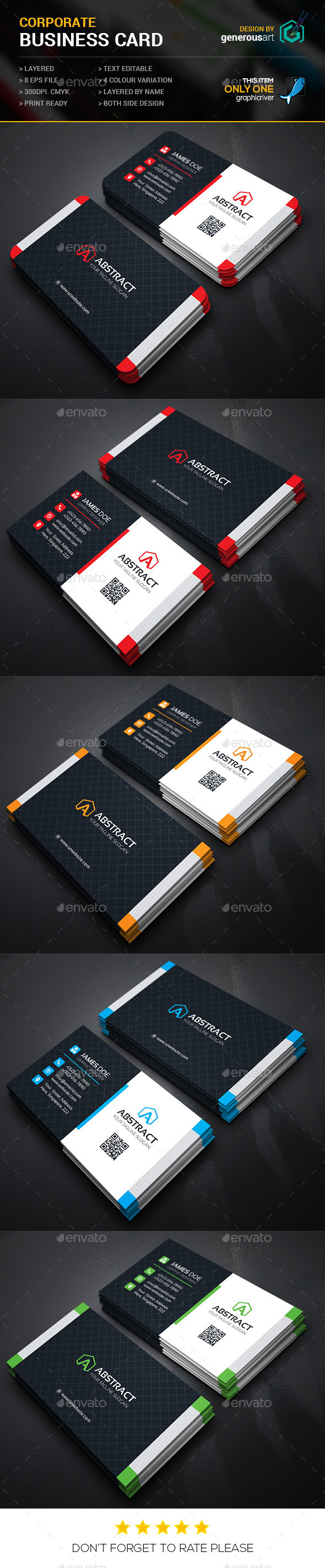 GraphicRiver Abstract Business Cards 11941717
