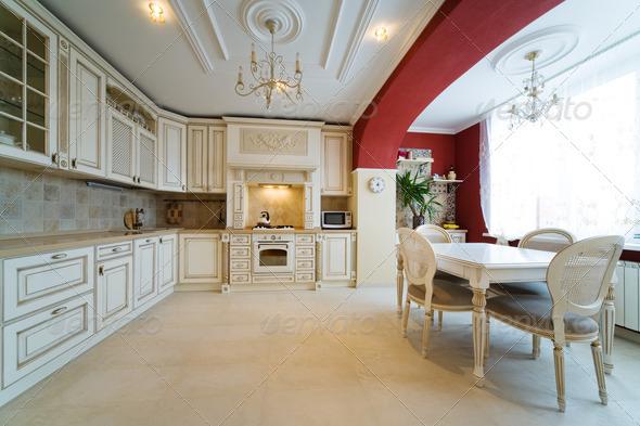 white kitchen - Stock Photo - Images