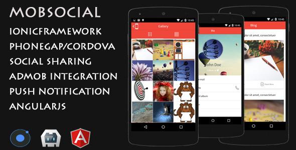 CodeCanyon MobSocial Cordova Phonegap Social App Template 11942474