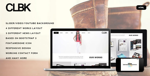 CLBK - Responsive One Page Portfolio Template