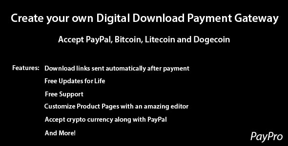 PayPro – Your Own Digital Download Payment Gateway (Miscellaneous) Download