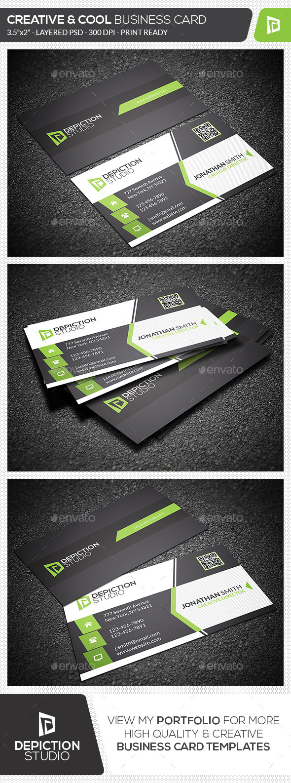 GraphicRiver Creative & Cool Business Card 11942497