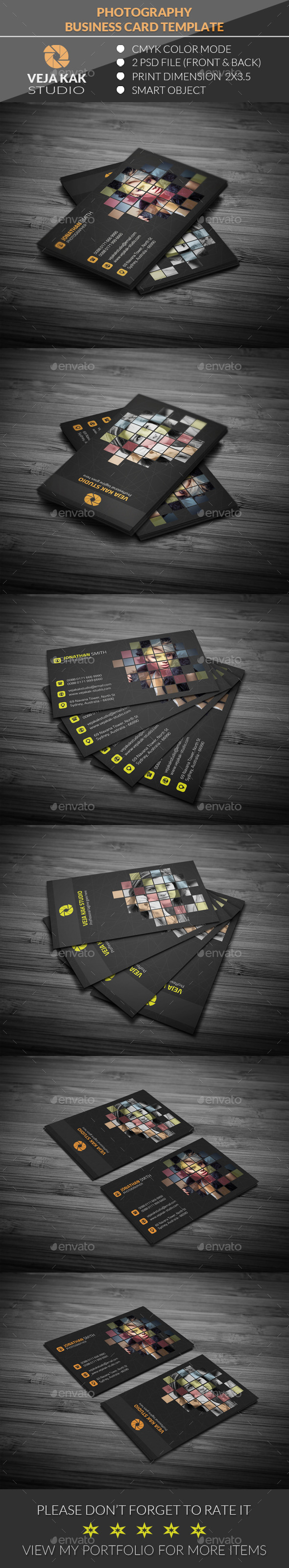 GraphicRiver Photography Business Card 11942535