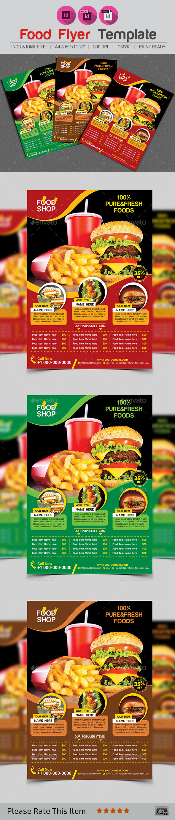 GraphicRiver Food Flyer Template 11942645