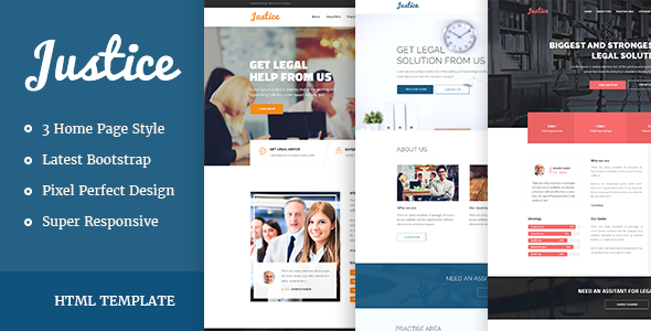 JUSTICE – Law & Business HTML Template (Business) Download