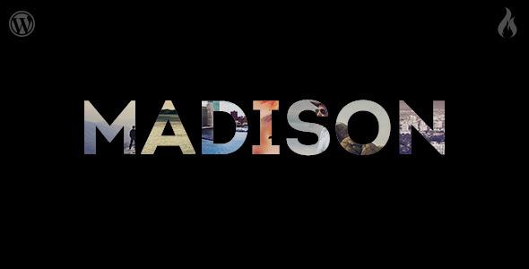 Madison - Responsive Portfolio WordPress Theme - Photography Creative
