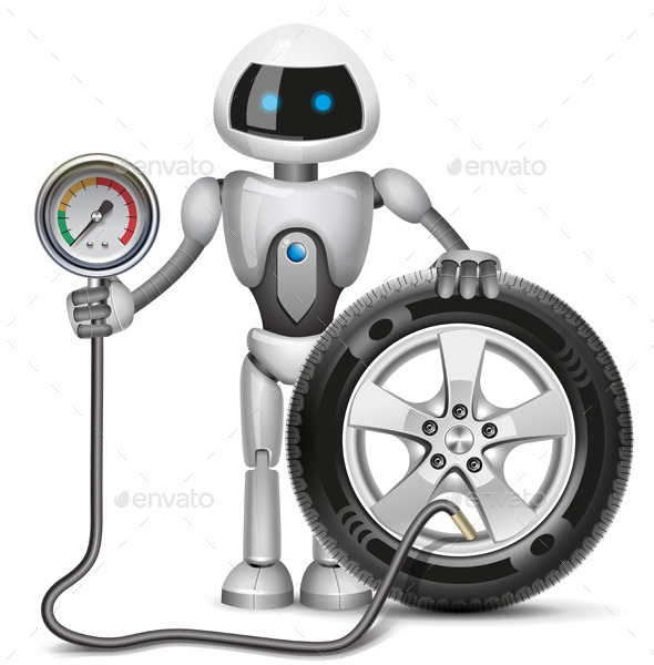 GraphicRiver Robot Measures the Pressure 11942914