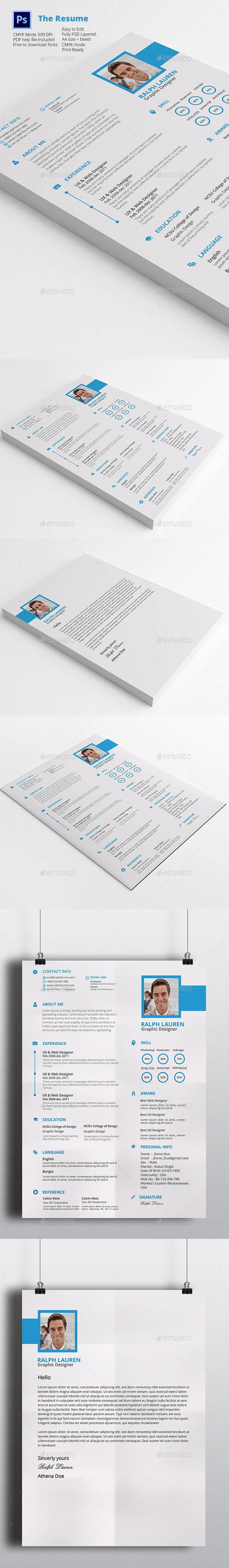 GraphicRiver Resume Cv 11943209