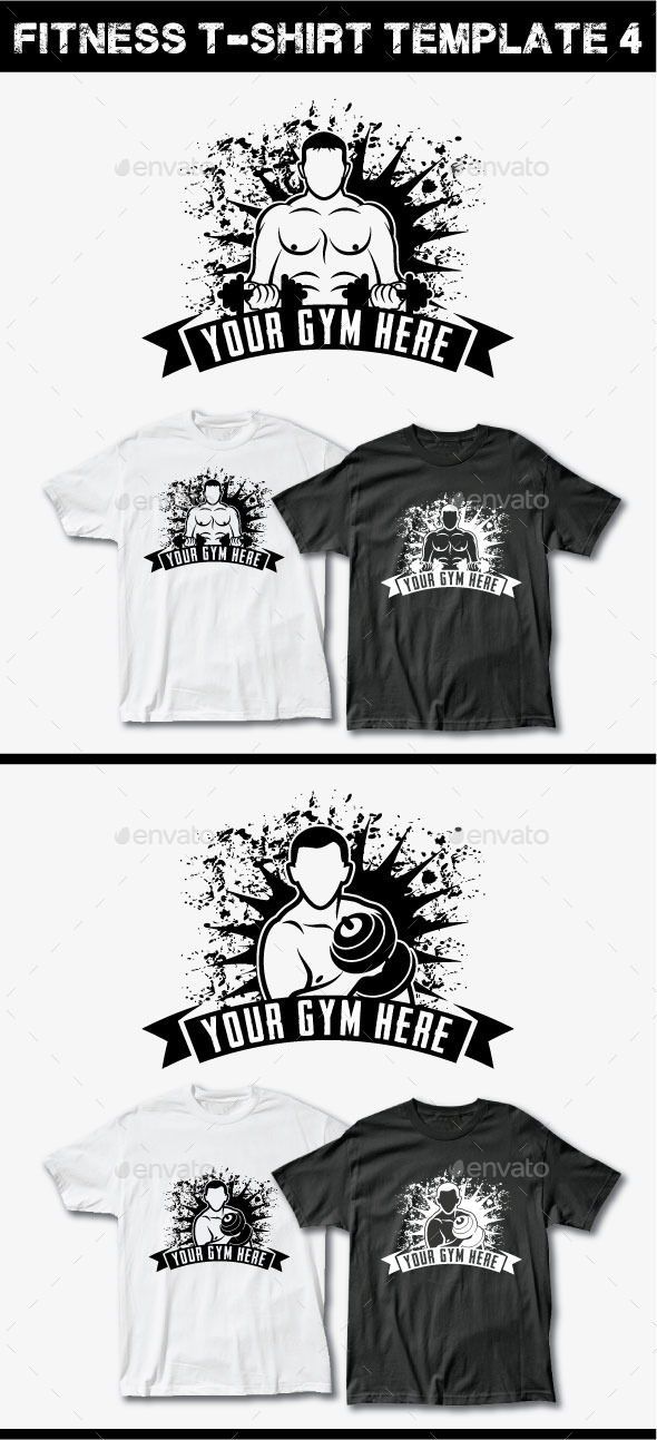 GraphicRiver Fitness T-Shirt Template 4 11943282