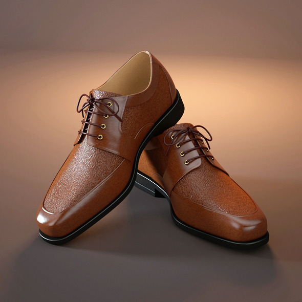 Classic men's shoes - 3DOcean Item for Sale