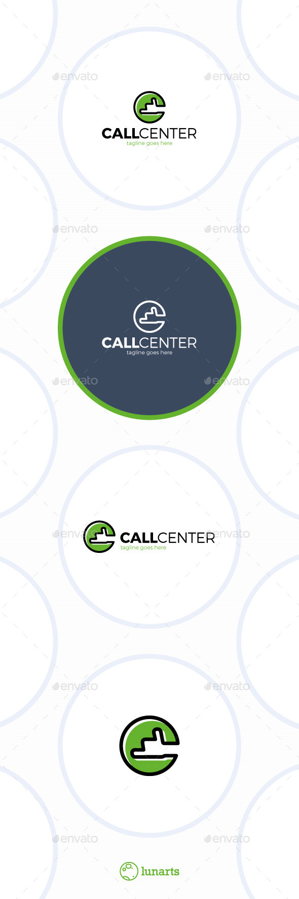 GraphicRiver Call Center Logo Letter C 11943561