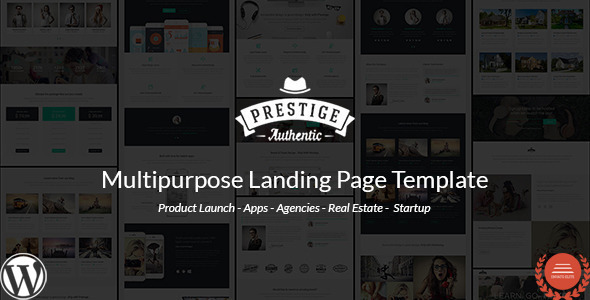 ThemeForest Prestige Multi Purpose WordPress Landing Pages 11668137