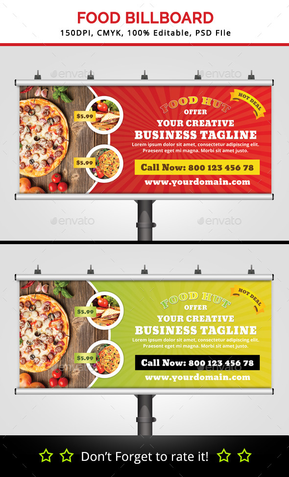 GraphicRiver Food Hut Billboard v2 11943605